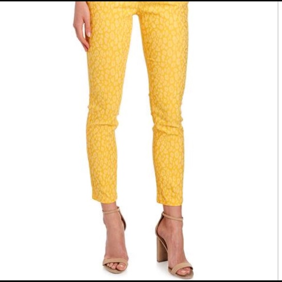 4d20ef245b41 Eric Yellow Leopard Print Pants Size 8. M_5b76ed83dcfb5a7e344514ee
